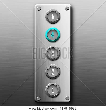 Elevator Buttons Panel