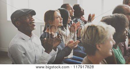 Audience Applaud Clapping Happiness Appreciation Seminar Concept
