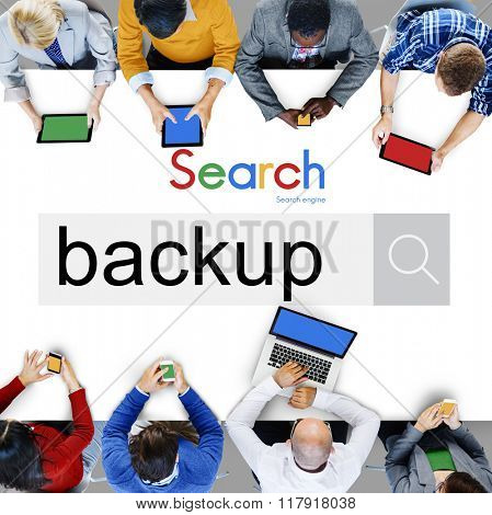 Backup Data Reserve Information Security Storage Concept