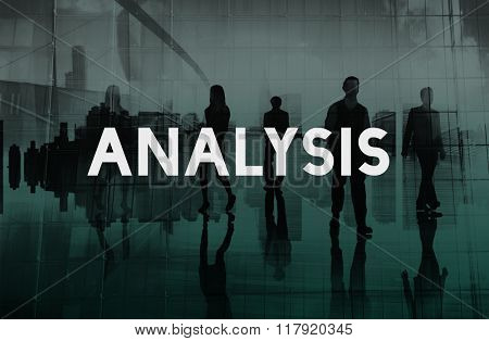 Business People Standing Analysis Concept.