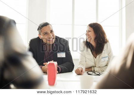 Business People Meeting Cheerful Smiling Concept