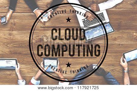 Cloud Computing Online Internet Data Concept