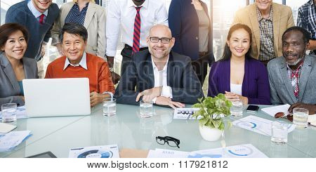 Business Team Meeting Organization Working Concept