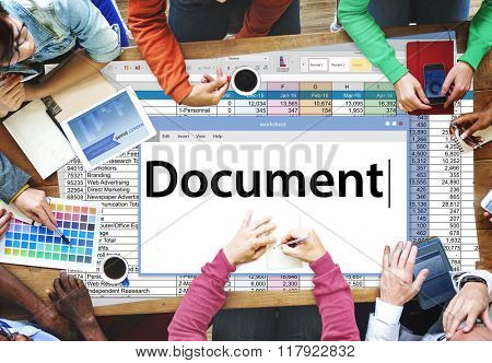 Document Contract Forms Legal Notes Records Concept