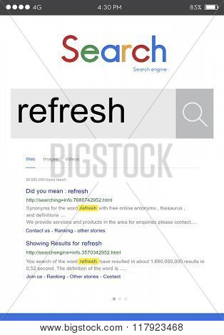 Refresh Refreshing Refreshment Renew Restart Concept
