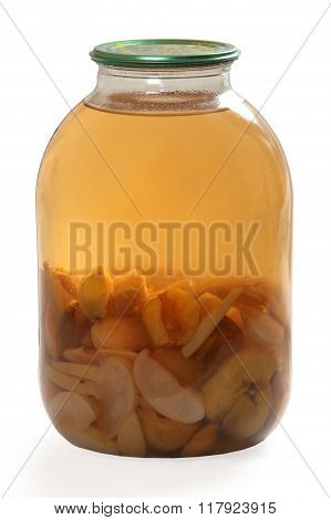 Flask Of Apple And Apricot Compote