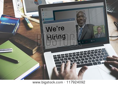 We Are Hiring Interview Recruit Applicant Job Concept