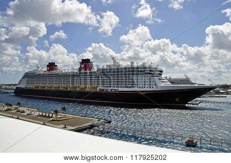 NASSAU - FEBRUARY 10, 2015:  Luxury cruise liner Dream at Nassau