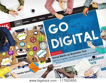 Go Digital Technology Internet Network Concept