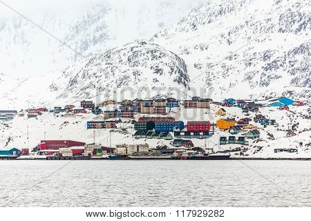 Port Of Maniitsoq, The 6Th Largest Greenlandic City