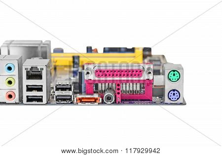 Connector Of Computer Motherboard Board