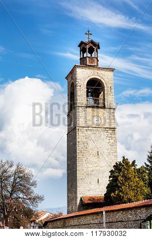 Tower of Sveta Troitsa Church in Bansko, Bulgaria