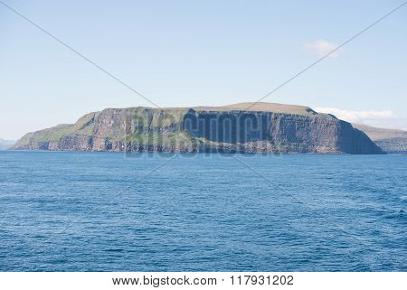 Landscape On The Faroe Islands With Stora Dimun