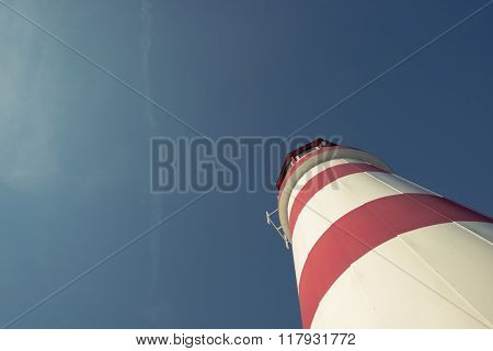 lighthouse against blue sky