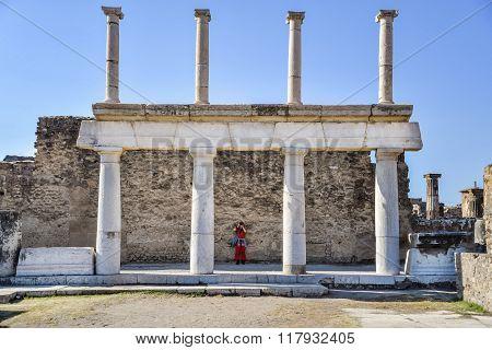 POMPEII - NOVEMBER 2: the Roman lost city of Pompeii on November 2, 2014 in Pompeii, Italy