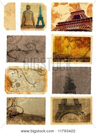 Grunge Cards From Paris