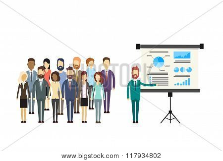 Business People Group Presentation Flip Chart Finance
