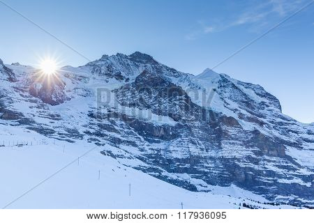 Close View Of Jungfrau From Kleine Scheidegg