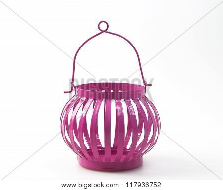 Candle Holder PINK isolated on white background