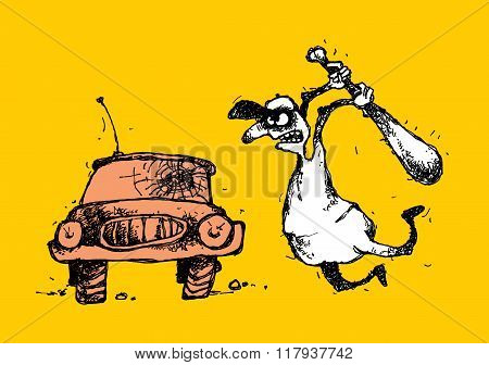 Bully And Car