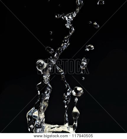 Macro Of Water Splash