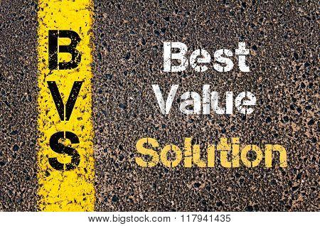 Business Acronym Bvs Best Value Solution