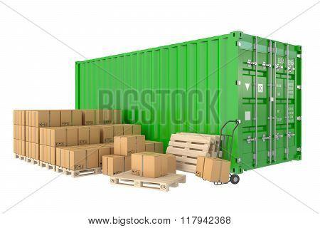 Cargo Shipping Concept