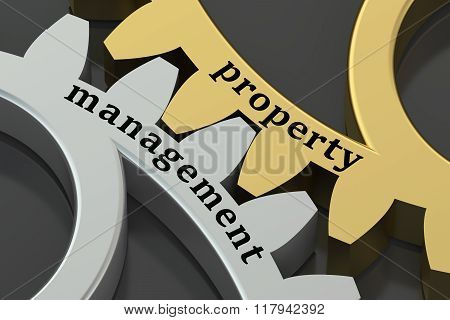 Management And Property Concept On The Gearwheels