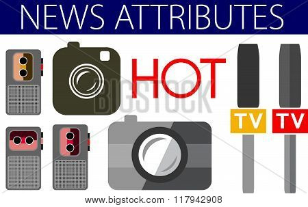 Hot News Useful Flat Design Icons