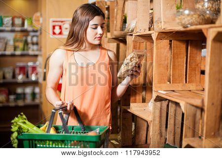 Buying Some Healthy Food At A Store