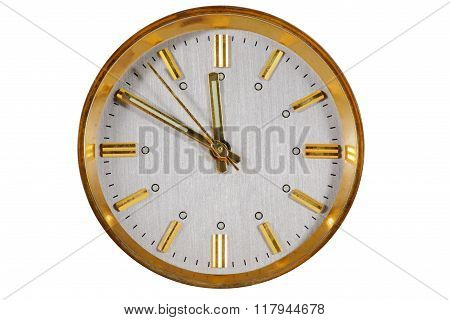Clock Face Isolated On White Background