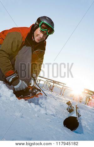 Ski boarder
