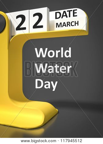 vintage calendar World Water 