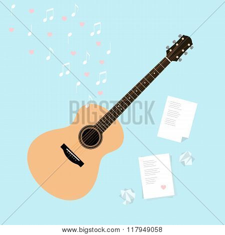 Vector Valentine's Day Template Cards With Serenade