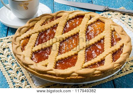Delicious Cake With Apricot Jam