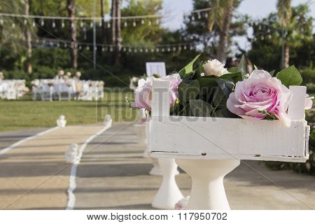 summer wedding table setting