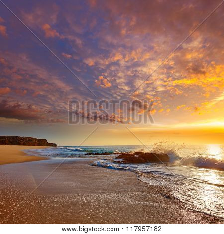 El Cotillo Castillo Beach in Fuerteventura at Canary Islands of Spain
