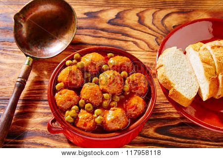 Meatballs tapas meatloaf albondiga recipe from Spain