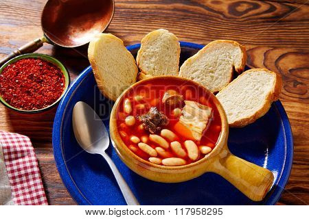 Tapas Fabada Asturiana beans and sausage from Spain