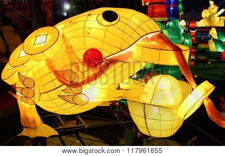 Chinese lanterns in frog shape