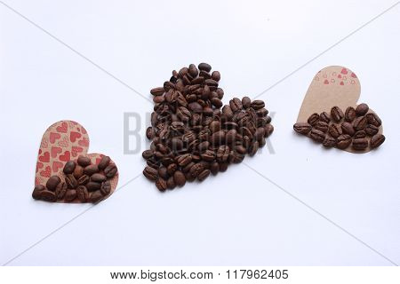 coffee beans and love
