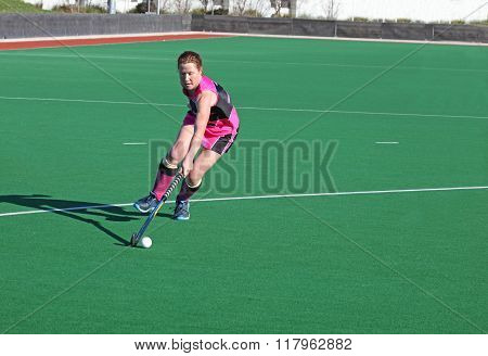Woman Hockey Player