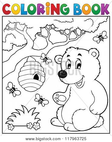 Coloring book bear theme 2 - eps10 vector illustration.