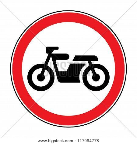 Motorcycle Red Sign