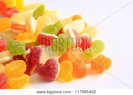 Colorful Rubber Candy Of Various Shapes