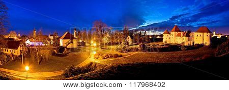 Town Of Varazdin Evening Panorama