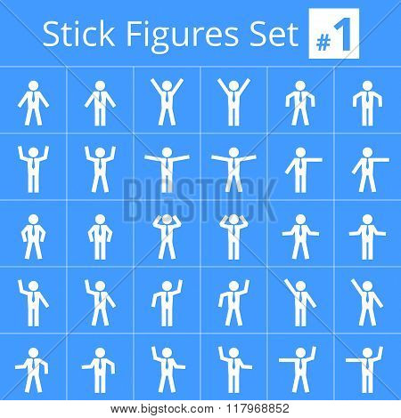Male Stick Figures #1.