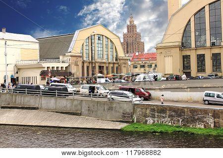 Riga Central Market. Latvia