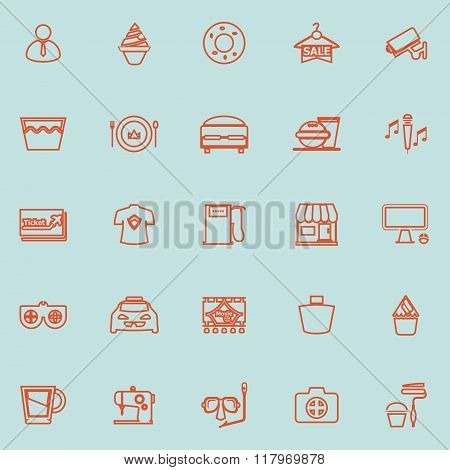Franchisee Business Line Orange Color Icons