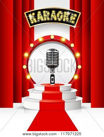 Karaoke party background.